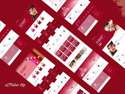 Color Lip eCommerce Lipstick web Design design ui fashion brand website design ecommerce shop branding ecommerce design ecommerce