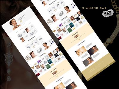 Jewelry Shop platinum gold diamond diamond shop website design ecommerce shop ecommerce design ecommerce