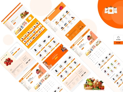 Grocery Shop ux ui illustration branding design website design grocery online grocery grocery store ecommerce shop ecommerce