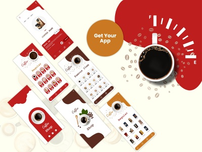 Coffee Shop App design illustration ui ux ecommerce shop ecommerce food coffee shop app app coffee shop coffeeshop coffee cup coffee