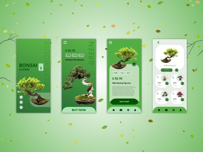 Bonsai App design app ecommerce design branding ecommerce shop ecommerce tree sale bonsai