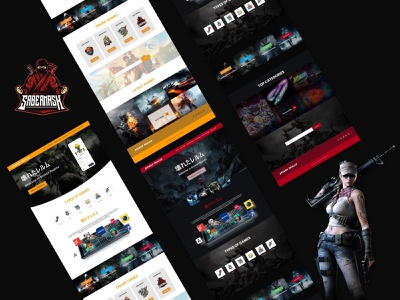 Game Web graphic design web game game ecommerce