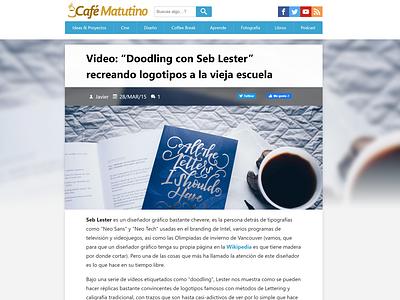 Cafe Matutino Blog - Single Post view web design blog design