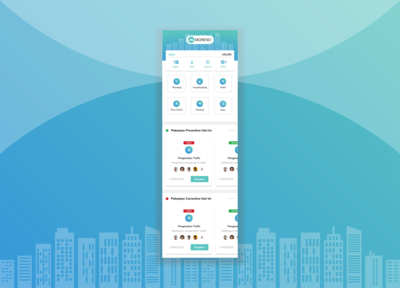 Building Management Mobile Apps Homepage with slider task