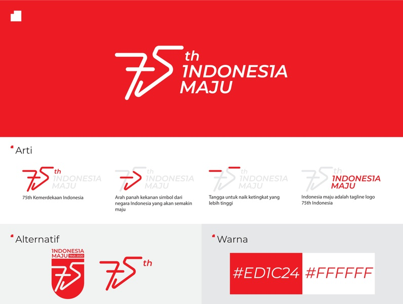 Logo 75th ( Indonesia Maju ) - Unofficial