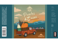 Peaches & Cream TMCC x Great Basin Brewery Beer Label