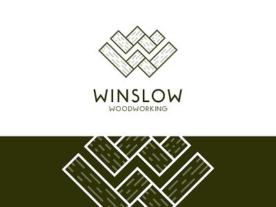 Winslow Woodworking illustration logo brand mark woodworking