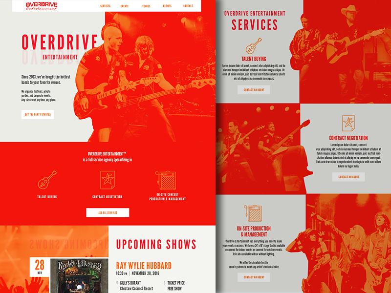 Modern Grunge Web Design desktop homepage landing ui web design agency event music grunge modern website