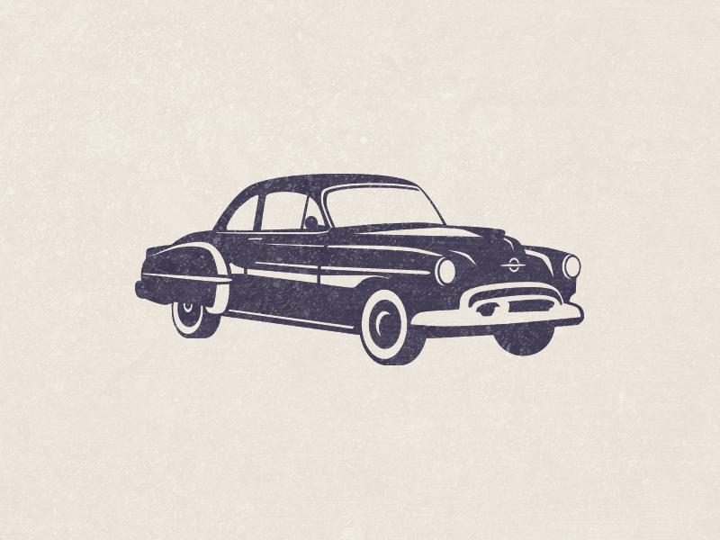 Vintage Car speedster illustration classic mid century retro branding logo car vintage