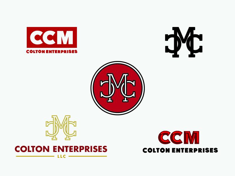 CCM branding llc emblem alphabet mark lockup typography outline logo
