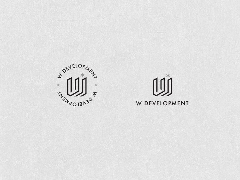 W Development Logo icon commercial emblem w star real estate building logo