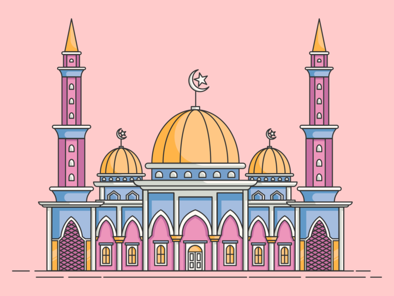 mosque flatdesign