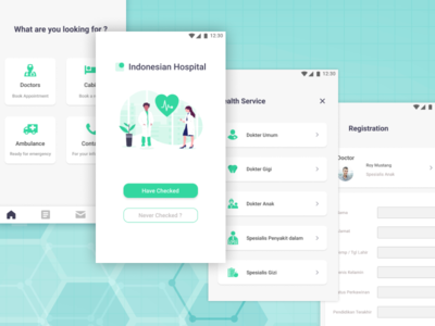 Hospital service booking apps