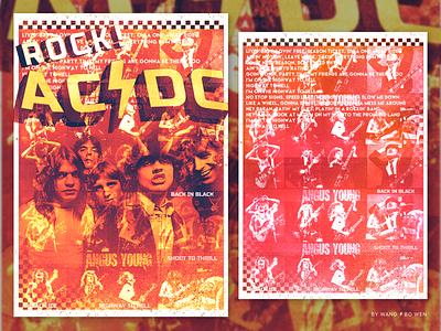 Rock!AC/DC 设计 商标 插图 品牌 ui