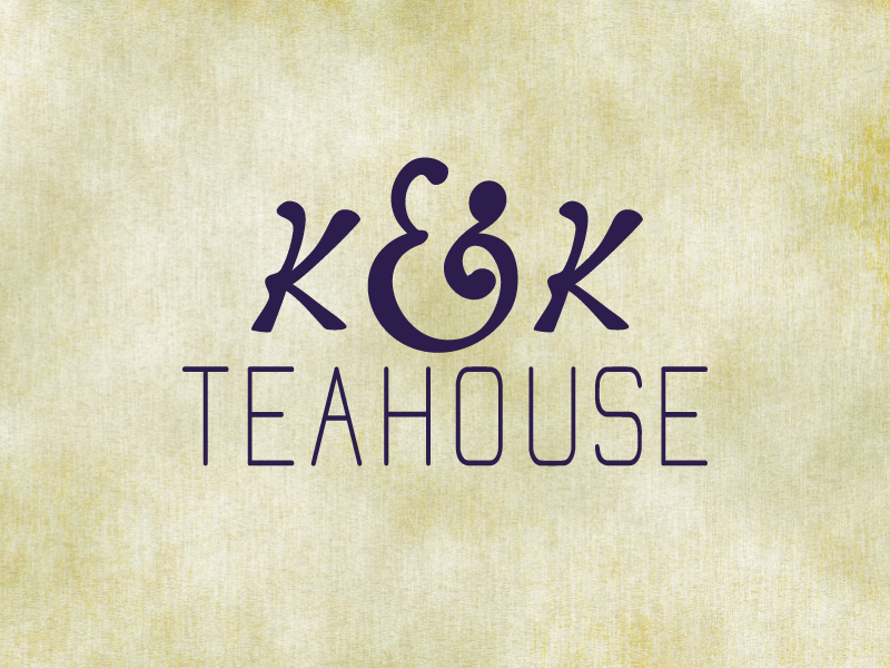 K&K's Teahouse (wip) type tea lettering hand drawn calligraphy logo branding identity wip hand lettering ampersand redesign