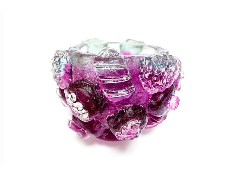 Glass Chocolates Chalice chocolate purple light fun custom creative colorful design color sculpt model 3d