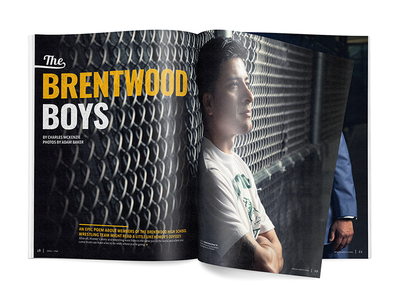 Brentwood Boys feature lighting color tail gritty type typography photography layout paper print editorial magazine