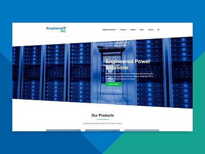 Amphenol IPC Website blue brand clean identity interaction product branding navigation slide colors home landing web graphic design interface ux user experience ui web design website