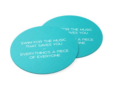 Lyric Coaster