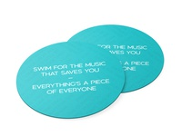 Lyric Coaster