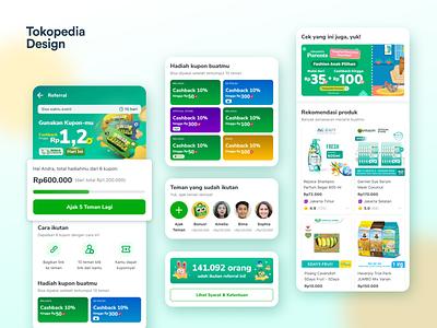 Referral 2.0 indonesia ecommerce design ecommerce app user interface design user interface ui design mobile ui design mobile ui app design colorful tokopedia ecommerce e-commerce referral design