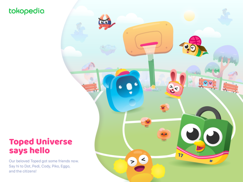 Toped Universe Says Hello brand identity identity design illustration design hello dribbble hello illustrations character design character cartoon identity branding identity colorful mascot design mascot vector illustration illustrator branding vector design illustration