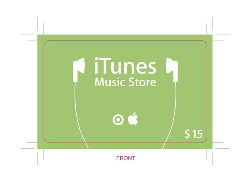 Original iTunes Prepaid Card (Target Dist.) apple ipod prepaid card design print design itunes