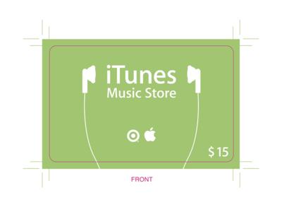 Original iTunes Prepaid Card (Target Dist.)