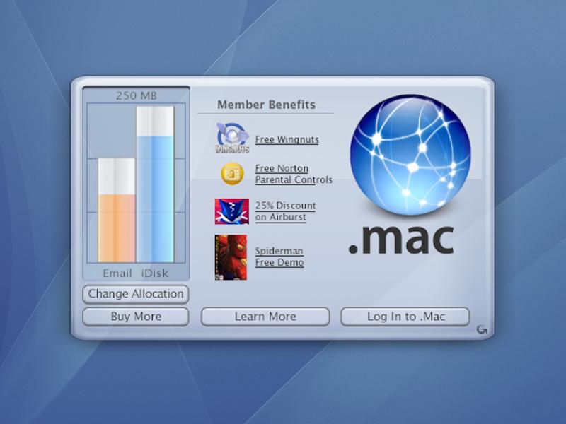 Mac OS X Desktop Widget (dotMac) desktop widget data visualization graph memory apple .mac dotmac