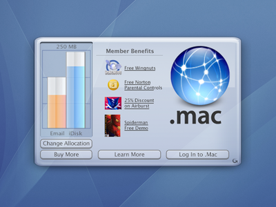 Mac OS X Desktop Widget (dotMac)