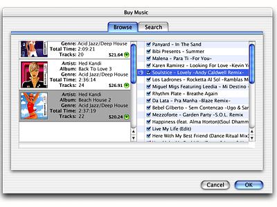 Original iTunes Store concept design explorations (circa 2002) interaction design apple itunes store vaulted design concept itunes