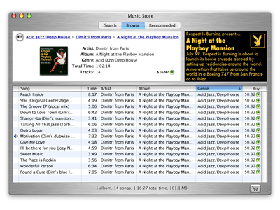 Original iTunes Store concept design explorations (circa 2002)