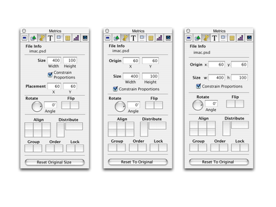 Metric inspector explorations for Keynote v1 bezel interaction panel inspector panel design panel inspector apple keynote