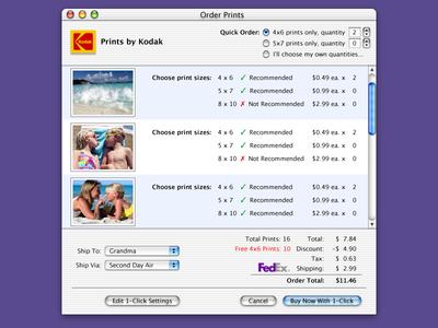 Panel Design for Apple iPhoto (circa 2002)