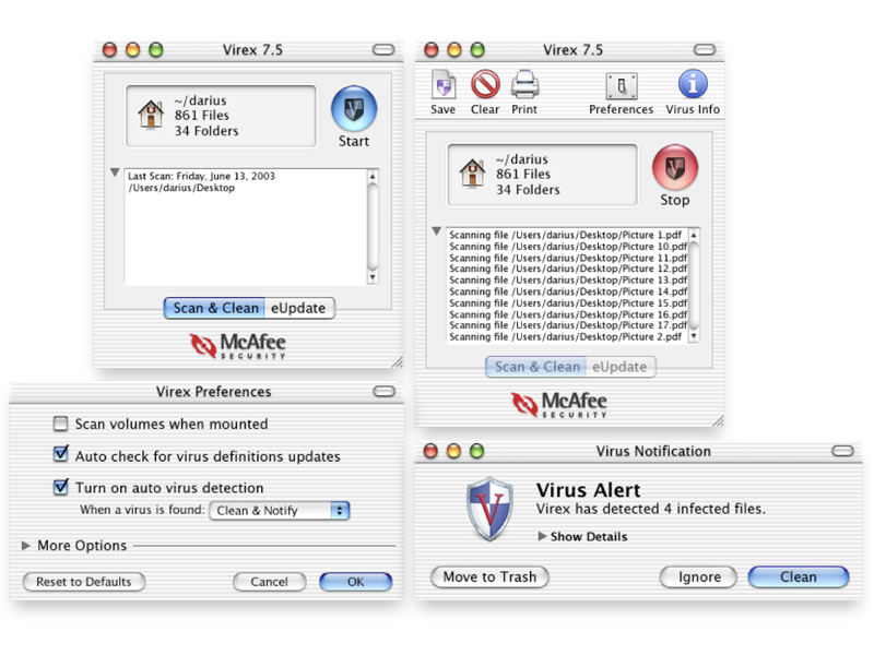 Virex for Mac application design desktop design mac os x aqua design aqua third-party virus virus software virex