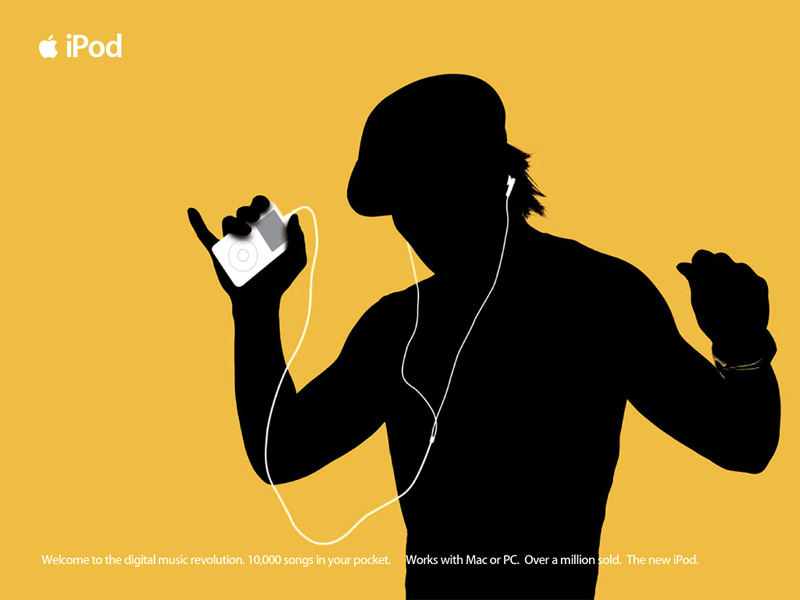 iPod launch campaign (silhouette) itunes store itunes ad campaign campaign music campaign music design apple ipod