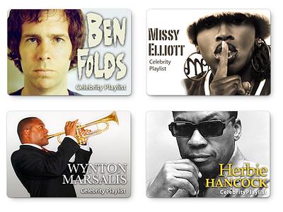 iTunes Celebrity Playlists itunes store celebrity playlist apple itunes music design playlist design