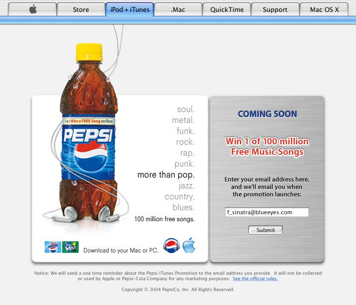 Pepsi prelaunch