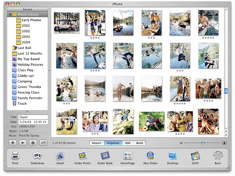 Apple iPhoto Application Design photo organizer book ordering print ordering photo publishing photo sharing photos app apple iphoto