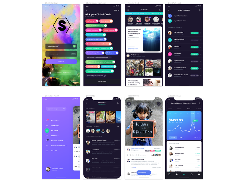 Serendipia [Proof of Concept] coin crypto blockchain ios app decentralized ico sto sustainable development proof of concept poc sdg