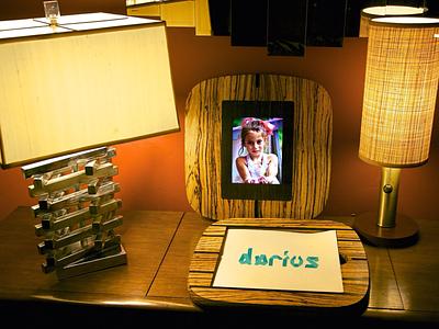 Zebrano Wood Portfolio Case with iPad frame portfolio case design portfolio case studies design case wood case case sample sound sensitive responsive sound interactive portfolio photography ipad zebrano zebra wood wood design industrial design