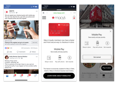 Macy's Mobile Pay Solution pay payment app payment mobile payment mobile pay macys