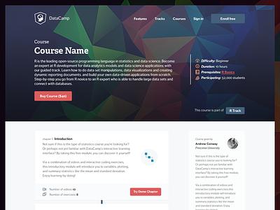 Datacamp - Course details r education polygon hero details icons material design