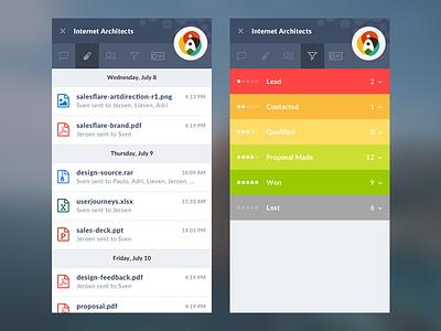 Salesflare — Design Details startup product saas crm sales plugin web app salesflare