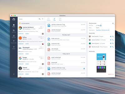 Salesflare - UI software mac salesflare web app plugin sales crm saas product startup