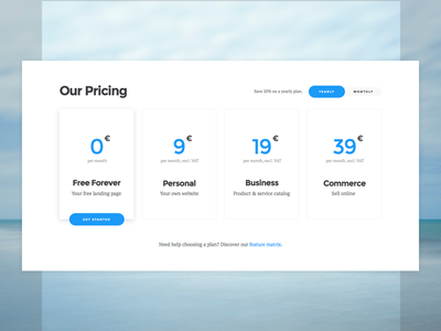 Pricing - Website Component component sales website plan conversion landing page saas pricing