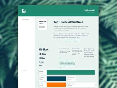 Style Guide grid typography color branding guide style