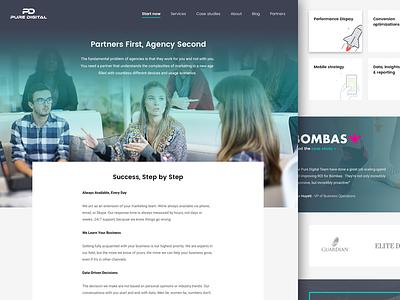 Puredigital redesign gradient homepage agency marketing digital