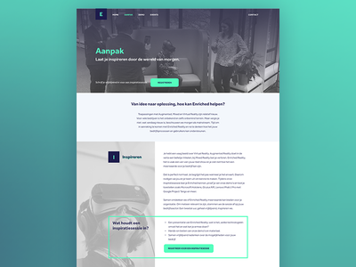 VR page grey contrast virtual reality vr page landing content website