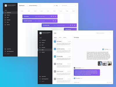 Dashboard utility settings app chat user management planning dashboard ui design dashboard